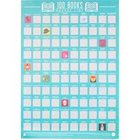 100 Books Scratch Off Poster - Books Gifts