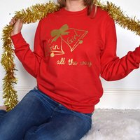Personalised Gin Girl All The Way Christmas Jumper
