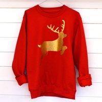 Personalised Glitter Reindeer Christmas Jumper