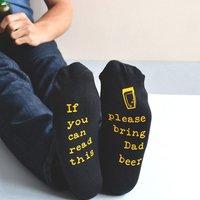 Personalised Please Bring Beer Socks - Beer Gifts