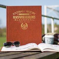 Personalised Blackpool Football Team History Book - Football Gifts