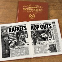 Personalised Burnley Football Team History Book - Football Gifts