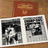 Personalised Leeds United Football Team History Book - Leeds United Gifts