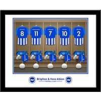 Personalised Brighton & Hove Albion FC Dressing Room Framed Photo - Personalised Gifts Gifts