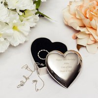 Personalised Heart Trinket Box - Prezzybox Gifts