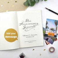 Personalised Anniversary Journal - Anniversary Gifts