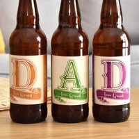 Personalised Beer 3 Pack Dad Set Label - Beer Gifts