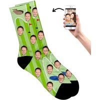 Personalised Face on Golf Socks - Golf Gifts