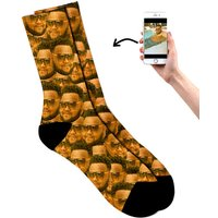 Personalised All Over Face Socks - Prezzybox Gifts