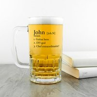 Personalised Definition Beer Glass Tankard - Beer Gifts