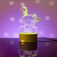 Personalised Unicorn LED Colour Changing Night Light - Prezzybox Gifts