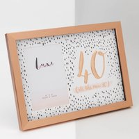 Rose Gold 40th Birthday Picture Frame - 40th Birthday Gifts
