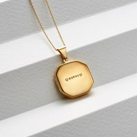 Personalised Large Faceted Square Locket