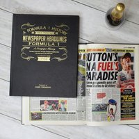 Personalised A3 Formula 1 Newspaper Book - Book Gifts