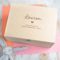 Personalised Christening Keepsake Memory Box - Christening Gifts