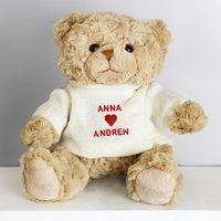 Personalised Love Heart Teddy - Prezzybox Gifts