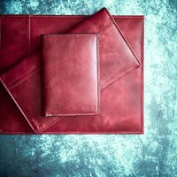 Personalised Vintage Leather Passport Cover