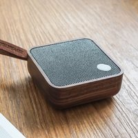 Gingko Mi Square Pocket Bluetooth Speaker - Walnut - Gadgets Gifts