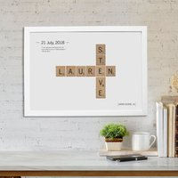 Personalised Love Tiles Poster - Prezzybox Gifts