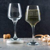 Personalised Hello Eighteen Birthday Wine Glass - Glass Gifts