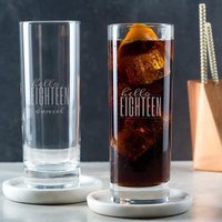 Personalised Hello Eighteen Birthday Highball Glass - Glass Gifts