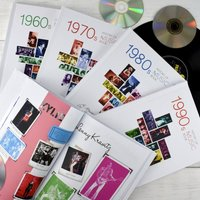 Personalised History of Music Decade Book - Music Gifts