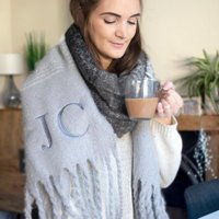 Personalised Women's Super Chunky Scarf - Personalised Gifts Gifts