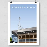 Portman Road Football Ground Print - Football Gifts