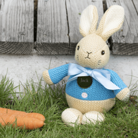 Personalised Knitted Peter Rabbit - Personalised Gifts
