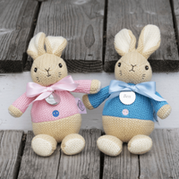 Personalised Knitted Flopsy Rabbit - Personalised Gifts