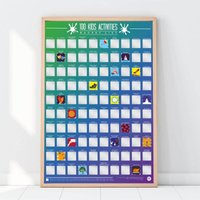 100 Kids Scratch Off Activities Poster - Kids Gifts