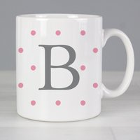 Personalised Pink Spot Mug - Personalised Gifts Gifts