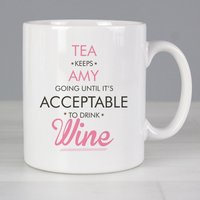 Personalised Acceptable to Drink Mug - Prezzybox Gifts