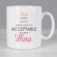 Personalised Acceptable to Drink Mug - Mug Gifts