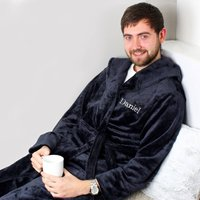 Personalised Name Luxury Hooded Robe - Personalised Gifts