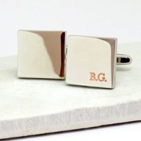 Personalised Boarder Initial Cufflinks - Personalised Gifts