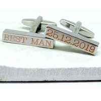 Personalised Bold Bar Cufflinks - Personalised Gifts
