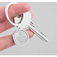 Personalised Lucky Sixpence Keyring - Personalised Gifts