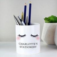 Personalised Eyelashes Ceramic Storage Pot - Personalised Gifts