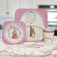 Personalised Flopsy Bamboo Breakfast Set - Personalised Gifts