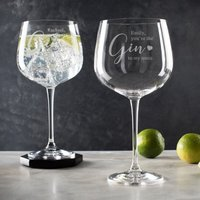 Personalised Gin to My Tonic Gin Glass - Personalised Gifts