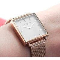Personalised Rose Gold Square Face Watch - Personalised Gifts