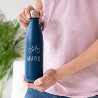 Personalised Sports Logo Colour Flask - Personalised Gifts