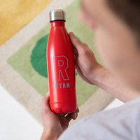 Personalised Initial and Name Colour Flask - Personalised Gifts