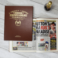 Personalised A4 Formula 1 Newspaper Book - Book Gifts