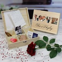 Personalised Love Photo Keepsake Box - 6 Compartments - Personalised Gifts