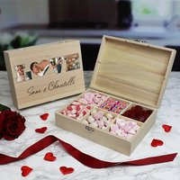 Personalised Love Photo Sweet box -  6 Compartments - Personalised Gifts