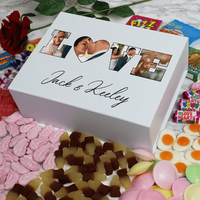 Personalised Love Photo Sweet Box - White - Personalised Gifts