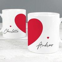 Personalised Two Hearts Mug Set - Personalised Gifts