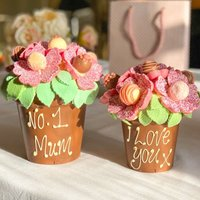 Personalised Smash Flower Pot - Pink - Personalised Gifts